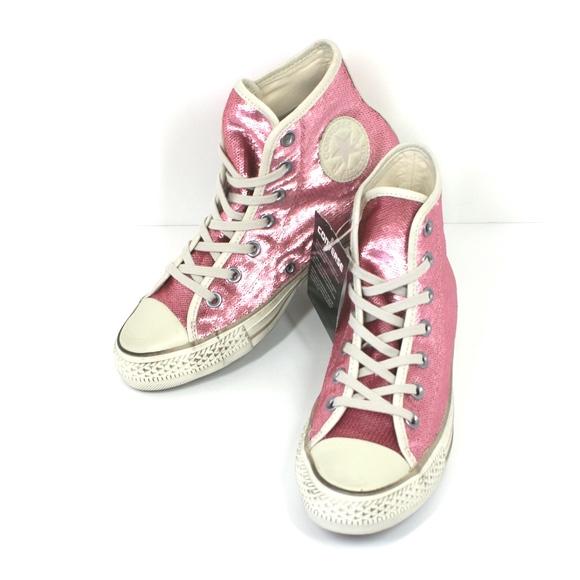 pink glitter high top converse Online